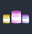 food storage food ingredients in plastic jars vector image