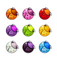 funny colorful bugs set vector image vector image