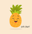 funny smiling pineapple character design vector image