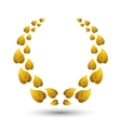 golden laurel wreath for winner vector image vector image