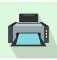 Grey printer icon in flat style vector image