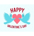 hand-lettered vintage st valentines card - with vector image vector image