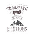 hand-lettering quote of travel and montains vector image vector image