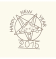 Happy New Year of the Goat vector image vector image