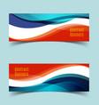 horizontal banner set7 vector image