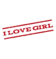 I Love Girl Watermark Stamp vector image vector image