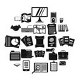 instrument icons set simple style vector image vector image