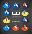 Isometric flat icons set 39 vector image