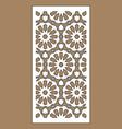 laser cut decorative panel set jali design vector image vector image