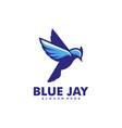 logo blue jay simple mascot style vector image