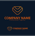 logo design template arrow down triangle vector image