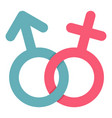 male and female symbol icon isolated vector image vector image