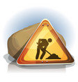 men at work road sign vector image
