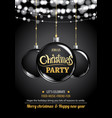 merry christmas party ball and light on dark vector image vector image