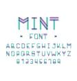 mint font alphabet vector image