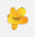 orange abstract liquid banner design vector image