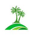 palm tree image vector image vector image