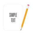 pencils with space for text vector image vector image