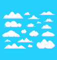pixel clouds retro 8 bit blue sky aerial cloud vector image