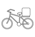 pizza food delivery bicycle outline vector image vector image