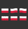 poland flag set official vector image vector image