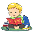 Reading A Book vector image vector image