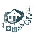 repair of a housing symbol for business vector image vector image
