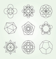 Sacred geometry symbols set
