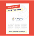 santa clause title page design for company vector image vector image