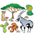 savannah animals collection 1 vector image
