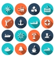 Sea port icons set vector image vector image