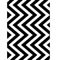 seamless black and white zigzag stripes pattern vector image vector image