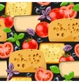 Seamless cheese and tomato vector image vector image