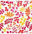 Seamless pattern on leaves theme Autumn seamless vector image vector image