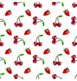 Seamless pattern strawberry and cherry Polygon fru vector image vector image