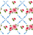 seamless rose peony pattern vector image