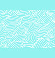 seamless wave pattern background with sea river vector image vector image