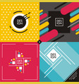 set of colorful vivid backgrounds and patterns vector image