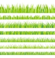 Set with realistica grass vector image vector image
