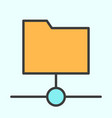 shared folder line icon simple minimal pictogram vector image vector image