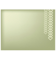 Square Chain on Green Background vector image