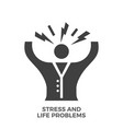 stress and life problems glyph icon vector image