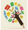 Summer tree pencil concept vector image vector image