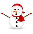 Surprised Snowman on a white background standing vector image vector image