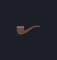 Tobacco pipe computer symbol vector image