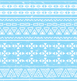Tribal geometric aztec pattern - grunge retro vector image vector image