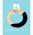 Wedding Hands entwined men and women in ring Drink vector image vector image