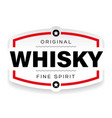 whisky vintage label sign vector image