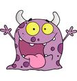 Happy Violet Monster Cartoon Character vector image