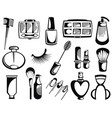 make up artist objects vector image